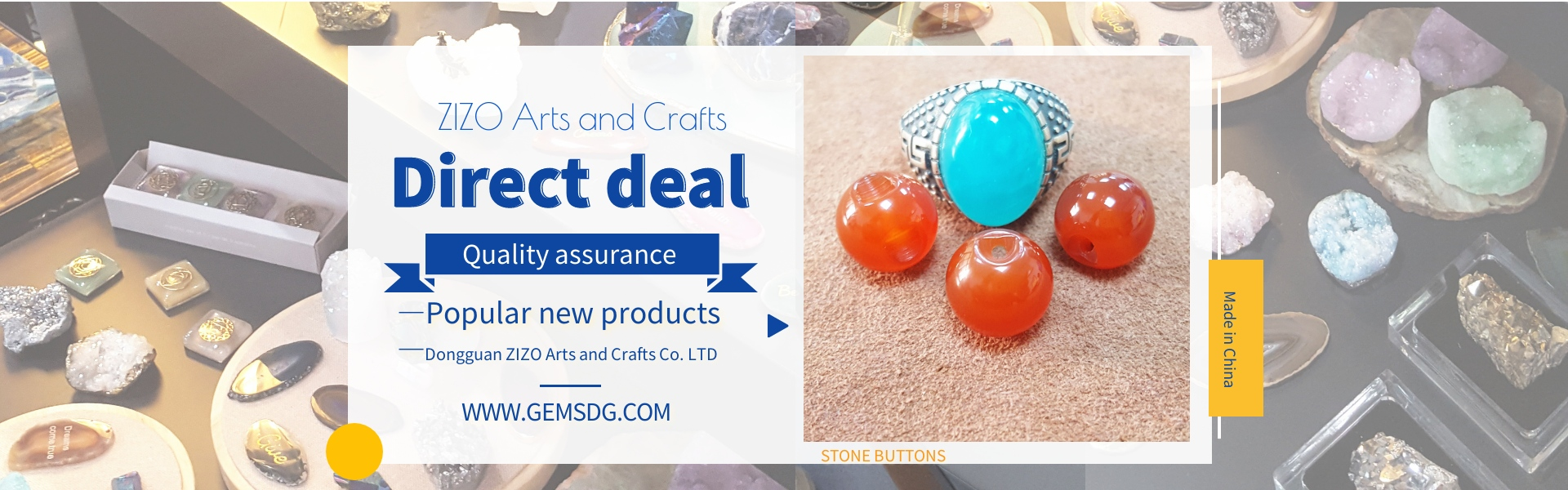 gems,stone buttons,jade,Dongguan ZIZO Arts and Crafts Co. LTD
